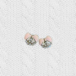 2/$20‼️ GIRLY BOW PINK RHINESTONE STUD EARRINGS